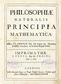 #Newton, Isaac. Philosophiae naturalis principia mathematica. [Herausgegeben von Edmond Halley]. (...)