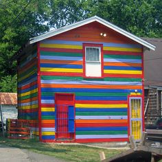 when i am old and move to the beach my house will be a rainbow
