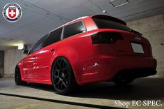 AUDI B7 RS4 Red HRE P40S Satin Black a | HRE Wheels | Flickr
