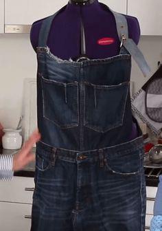 Schürze aus einer alten Jeans   nähen und Upcycling   zum Grillen oder Arbeiten…