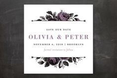 """""""Roses and Arrows"""" - Floral & Botanical Save The Date Cards in Rust by Snow and Ivy."""
