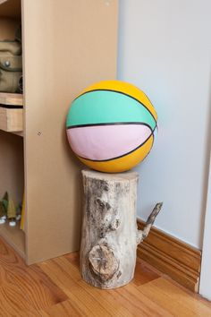 Courtney's friend painted the basketball.