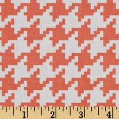 Michael Miller Everyday Houndstooth Peach from @fabricdotcom  From Michael Miller, this cotton print is perfect for quilting, apparel and home decor accents.  Colors include white and peach.