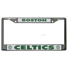Lot of 2 Rico NBA White Plastic License Plate Frame Boston Celtics New