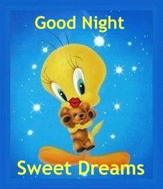 Good Night Tweety | Glitter Text » Days of the Week » Tweety Goodnight Kiss