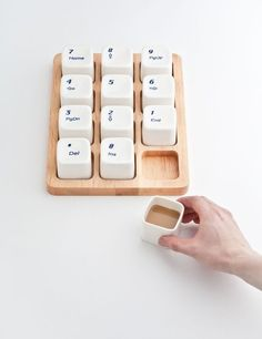 burnworks:  Interior design room: Keyboard Coffee Cups by E Square