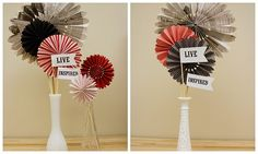 Cute centerpieces on the cheap.