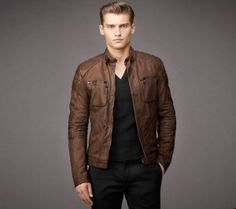 Wrab Rider Faux Leather Biker Jacket - JKT-BROWN - BUY Wrab Products Online at Best Prices in India | AskMeBazaar.com | 3135477