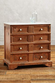 sold out; Copper Clad Dresser - anthropologie.com