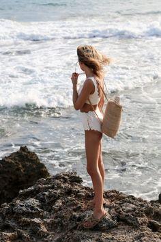 Bikini and backpack #summer #style