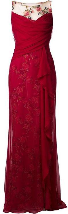 Farb-und Stilberatung mit www.farben-reich.com - Marchesa Notte illusion lace gown