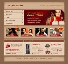 Online Shop SWiSH Templates by Viola