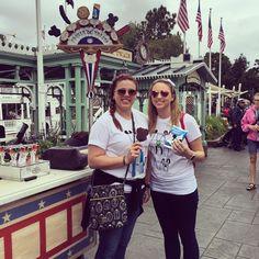 #postracetreat #disneyland #mickeybar #tinkerbellhalfmarathon #earnedit #sisters #twinning #howjaimiesees2016 by jaimiejo