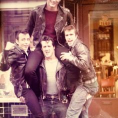 young Sly, Sylvester Stallone, actor, cool, friends