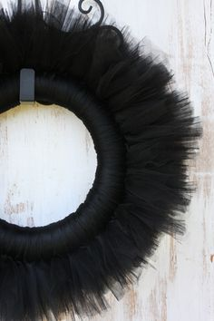 Love this black tulle wreath!