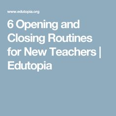 Check for understanding, manage your students, and build classroom community with these six opening and closing classroom routines. Instructional Strategies, Teaching Strategies, Teaching Tips, Teacher Websites, Teacher Resources, 1st Year Teachers, Classroom Routines, Classroom Ideas, Education Major
