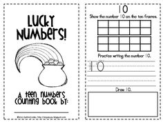 Your students will have fun practicing their teen numbers with this St. Patrick's Day themed book. For each number, they will complete a ten frame,...
