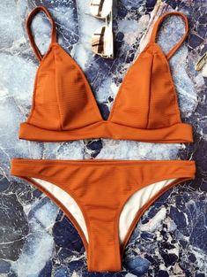 SHARE & Get it FREE | Cami Plunge Bralette Bikini Set - Brown SFor Fashion Lovers only:80,000+ Items • New Arrivals Daily Join Zaful: Get YOUR $50 NOW!