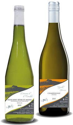 Création de la gamme des vins tranquilles pour le Domaine de la Coindrie