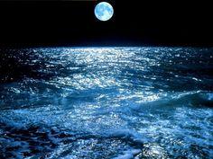 Full moon making the ocean glitter.  One of my favorite things