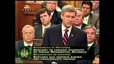 Stephen Harper on behalf of the Canadian Federal Government apologizes to the Survivors of the Indian Residential School System. Indian Residential Schools, First Nations, Relationship, Student, Canada, Federal, Relationships