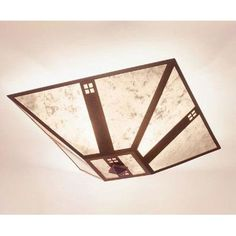 Steel Partners Pasadena Drop Ceiling Mount Finish: Architectural Bronze, Shade Color: Slag Glass Pretended