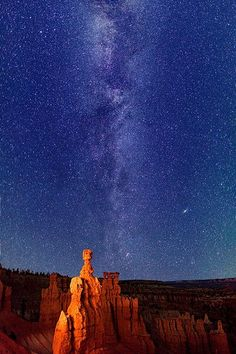 Milky Way stars over Thor's Hammer - Bryce Canyon  Copy credit : Royce Bair