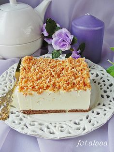 Ala piecze i gotuje: Ciasto śnieżny puch Sweet Recipes, Cake Recipes, Polish Recipes, Cookie Desserts, Cake Cookies, Vanilla Cake, Delicious Desserts, Sweet Tooth, Cooking Recipes