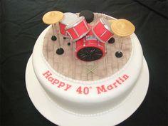 drum kit b-day cake...