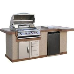 grill with refrigerator - Google Search