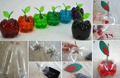 DIY Plastic Bottle Apple Box DIY Projects