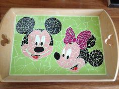 Dienblad Mickey en Minnie Mouse