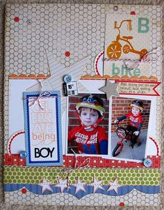 ~ celebrate being a boy ~ **Technique Tuesday** - Scrapbook.com