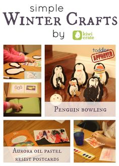 Toddler Approved!: Simple Winter Crafts {Kiwi Crate}. What other arctic themed winter crafts would be fun to try?