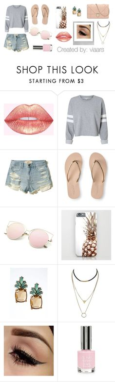 """Summery"" by viaars on Polyvore featuring moda, Hollister Co., Aéropostale, Banana Republic, Polaroid y Topshop"