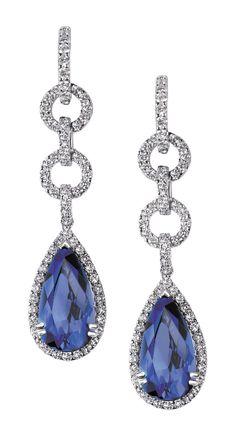 Lily Donaldson, Prom Jewelry, Fine Jewelry, Jewellery, Jewelry Accessories, Jewelry Design, Gold Earrings Designs, Gemstone Earrings, Beautiful Earrings