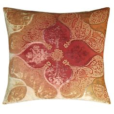 Kevin OBrien Persian Velvet Decorative Throw Pillow