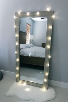Bedroom Decor With Mirrors 22 ways to decorate with string lights for the coolest bedroom