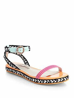 Sophia Webster Bea Mixed Media Sandals