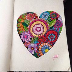 Página colorida pela leitora Alexandra Castro #Colorir