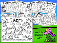 *NO PREP* Monthly Reading Logs and Homework Helpers from Teacher Twinkle Toes on TeachersNotebook.com -  (20 pages)  - These super cute reading logs and homework helpers allow a creative way to keep track of nightly reading requirements and have a no prep homework calendar for each month.