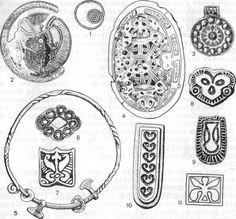 Jewelry finds from Gnezdovo: Украшения из Гнездовских курганов: 1 ...