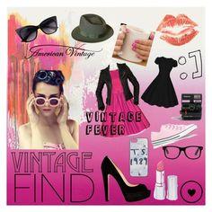 """Vintage Fever"" by athena-carrillo on Polyvore featuring American Vintage, Balenciaga, Christian Louboutin, Converse, HoneyBee Gardens, Dunn, Polaroid and vintage"