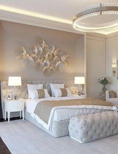 Master Bedroom Interior, Luxury Bedroom Design, Gold Bedroom, Home Room Design, Master Bedroom Design, Interior Design, Cute Bedroom Decor, Decor Home Living Room, Beautiful Bedrooms