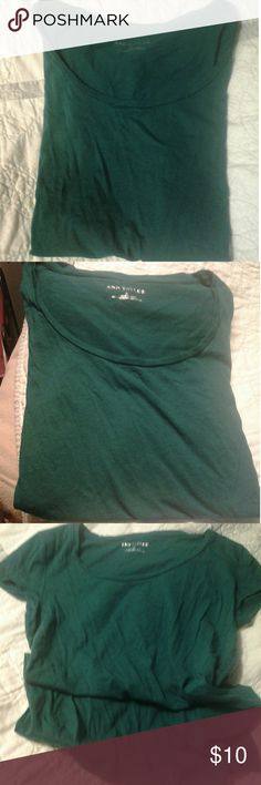 💮💮Green T Ann Taylor. Size m. Soft and drapey. Barely worn. EUC Ann Taylor Tops Tees - Short Sleeve