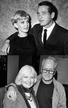 Paul Newman & Joanne Woodward, together through the years....    for the non self-centered and those who work at it, hollywood marriages can succeed too.