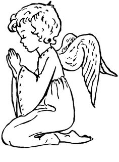 free angel coloring pages for children