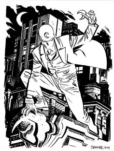 Does anyone else remember Moon Knight? Moon Knight by Chris Samnee