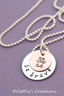 """Be Brave"" Child Sexual Abuse Prevention Pendant"