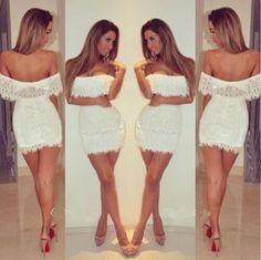 Sexy elegant lace dress Brand-new never worn Cream/off-white lace mini dress BodyCon Dresses Lace Dresses, Club Dresses, Sexy Dresses, Evening Dresses, Short Dresses, Party Dresses, Dress Lace, White Dress, Dress Party